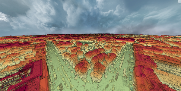Figure 1: Laser scanning point cloud of Dublin, Ireland's capital city.