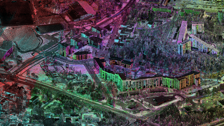 Kinematic Laser Scanning in Assessing Urban Land Use and Utility Infrastructure