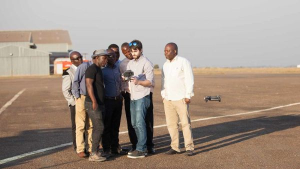 The hands-on drone training in Lilongwe also included a flight.