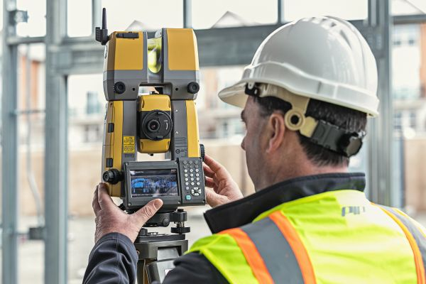 Many surveyors use a robotic total station and scanner in one, which allows for quicker construction verification.