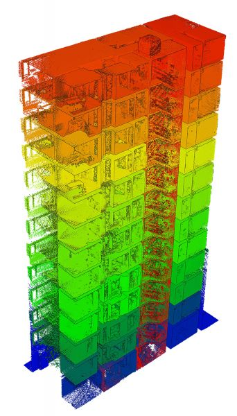 BIM model created by importing the point cloud into third-party software.