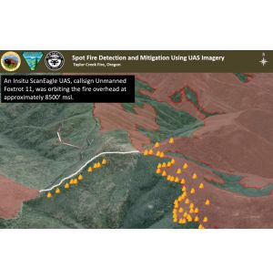 Insitu ScanEagle UAS Helps Suppress Wildfires
