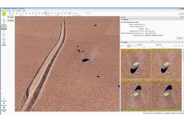 Pix4D-generated point cloud based on UAV mapping near San Pedro de Atacama, Chile.
