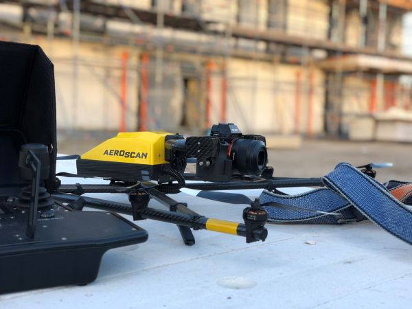 The drone is fitted with the Sony A7R full-frame camera to capture high-resolution images.
