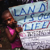 Protest against land grabbing.