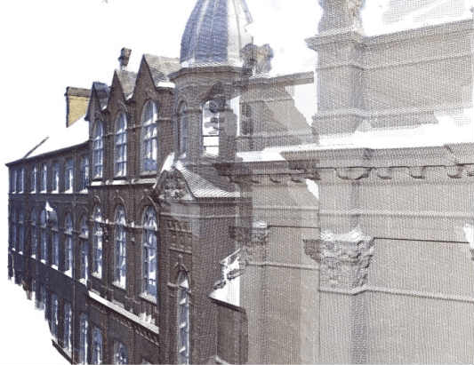 Point Clouds of a building