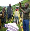 Dr Nkurunziza performing GPS measurements