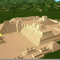 Scene Viewer showing 3D city model overlaid on DTM