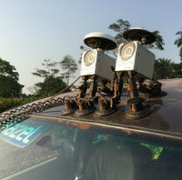 Two synchronised Imajbox mobile mapping systems mounted on a vehicle